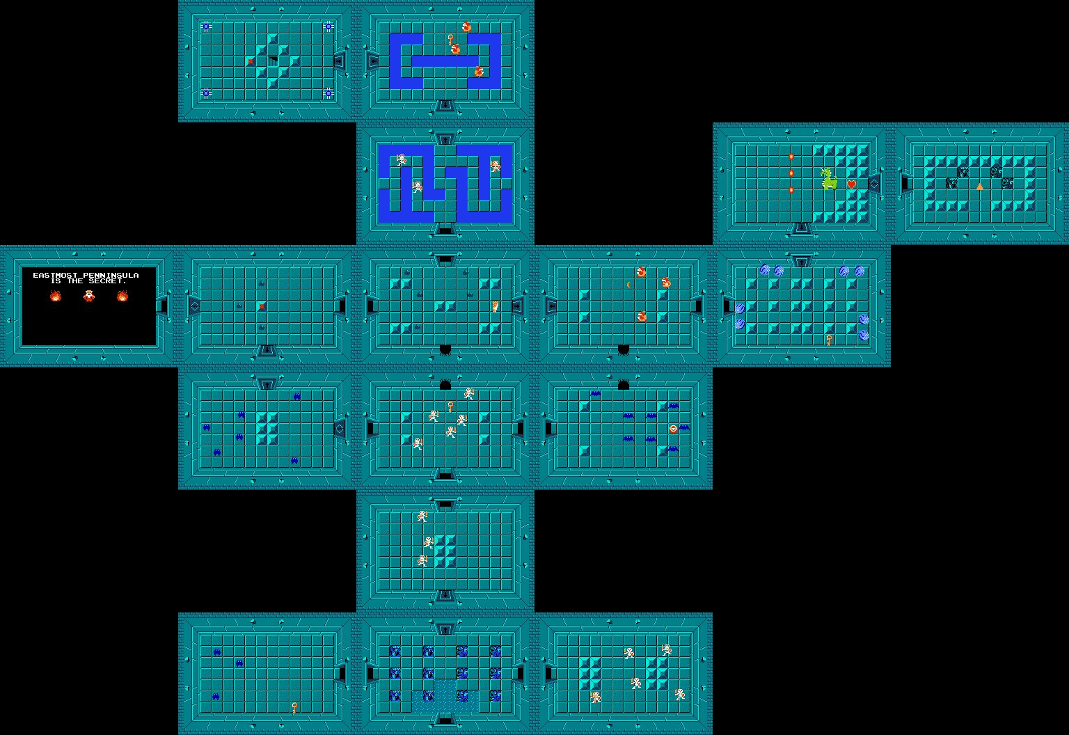 The Legend of Zelda Walkthrough - Level 1: The Eagle - Zelda Dungeon