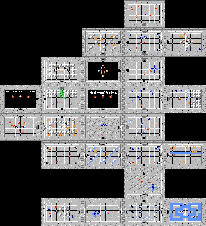 The Legend of Zelda Walkthrough - Level 8: The Lion - Zelda ... on zelda nes map, zelda spirit tracks map, legend of zelda map, zelda wii u map, zelda hyrule map, zelda wind waker map, zelda map second level 2,