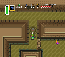 how to get to desert palace link to the past