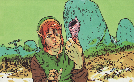 Link finding a Seashell