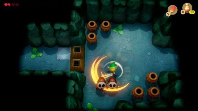 Link S Awakening Walkthrough Bottle Grotto Zelda Dungeon