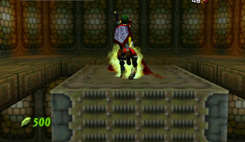 (zelda: ocarina of time). it's the build-up that does it. the slow trudge up