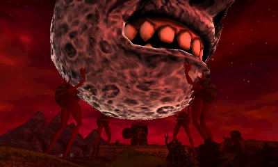 Majoras Mask Moon Giants The Giants can t hold it much