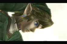 Link looking at what he's done