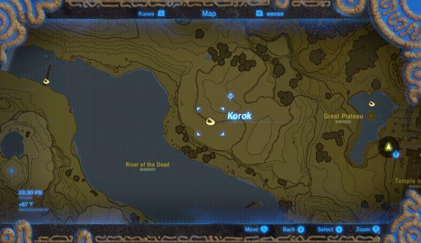 Great Plateau Korok Seed Locations Zelda Dungeon