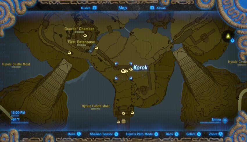 Hyrule Castle Korok Seed Locations Zelda Dungeon