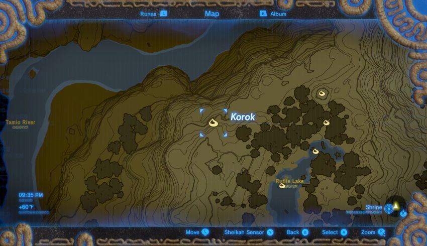 Korok Seed #10: At The West Side Of The Rutile Lake, There Is A Circle Of  Rocks. Climb Up To The Nearby Platform And Pickup The Rock.