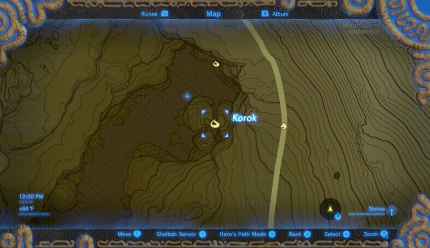Korok Seed #26: Within The Forgotten Temple, Head All The Way To The Area  Behind The Goddess Statue And Youu0027ll Find A Small Rock.
