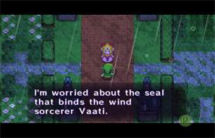 Princess Zelda is worried about Vaati's seal