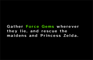 Gather Force Gems and rescue Princess Zelda