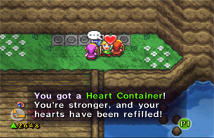 Grab the Heart Container