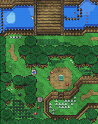 Map of Lake Hylia