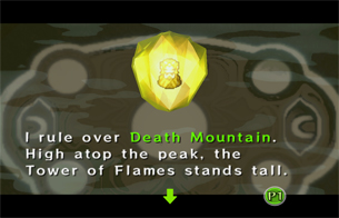 The Yellow Maiden rules over Death Mountain