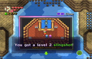 Swim underwater and enter the cave for a lvl 2 Slingshot