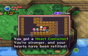 Grab the Heart Container from one of the caves