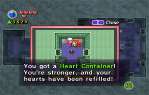 Open the chest for a Heart Container