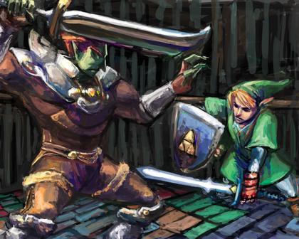 Ganondorf and Link
