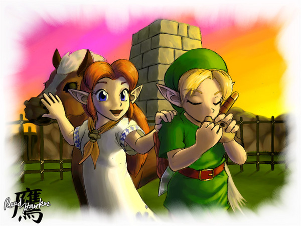 Link, Malon, and Epona