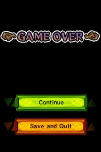 Spirit Tracks Screenshot - Game Over