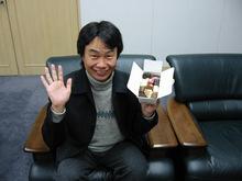 Shigeru Miyamoto Enjoying Some Candy
