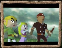 Spirit Tracks - Link, Zelda, Alfonzo