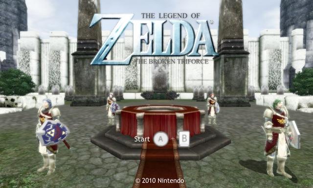 Zelda Wii Fake Screen 1