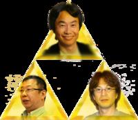 Shigeru Miyamoto, EIji Aonuma, and Takashi Tezuka