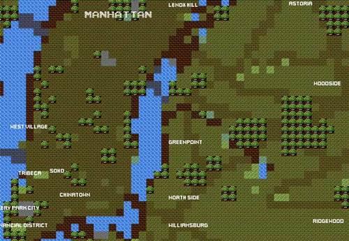 New York 8 Bit Map