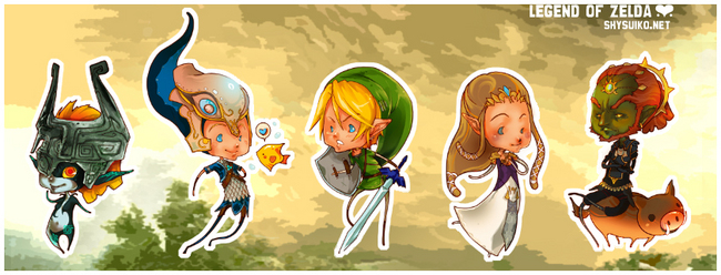 Zelda Stickers by Shysuiko