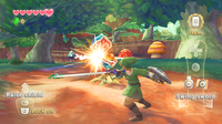 The direction you swing the Wii Remote is the same direction Link swings his sword