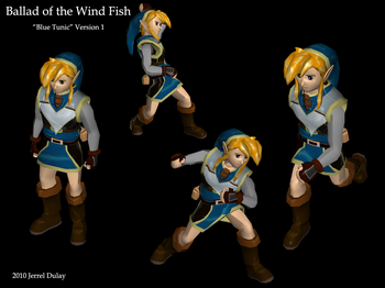 Blue Tunic Concept from Ballad of the Windfish
