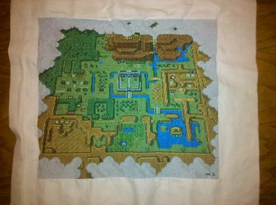 A Link to the Past Cross-Stiched Map