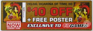 Ocarina of time Preorder Voucher