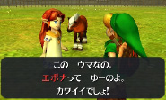 Malon introduces Epona to you as a child