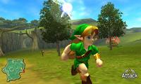 Closeup of Link in Hyrule Field