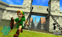 Heading out from Hyrule Castle