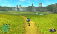 Adult Link races across Hyrule