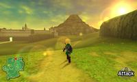 Running towards the sunset