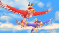 Zelda and Link flying in Skyward Sword