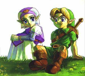 Child Link And Zelda