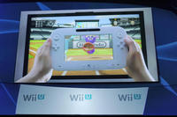 The Wii U controller in action