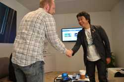 Miyamoto Meets Game Informer Staff