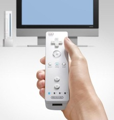 The image of a remote pointing at the TV was commonplace before Nintendo introduced the Wii Remote
