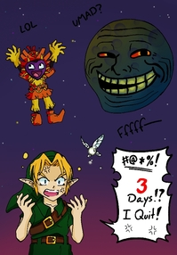 This funny picture was done by DWNSnipergrl on DeviantArt!  Go look at her art!