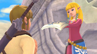 Zelda gives Link her Sailcloth