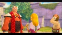 A couple minutes of exposition introduce you to Zelda and her father, Headmaster Gaepora