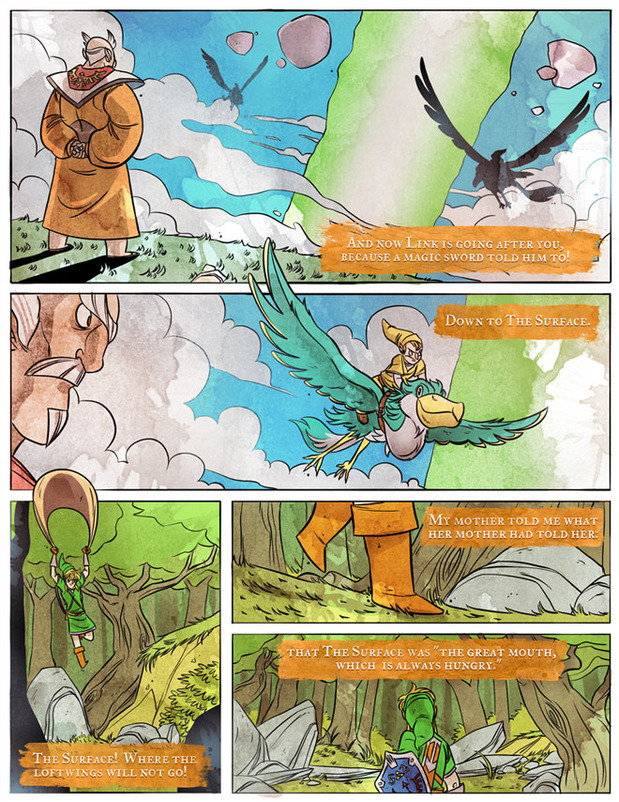 Penny Arcade Releases Second Page of Official Skyward Sword Comic