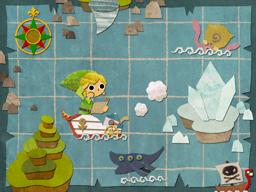 Link adventuring across the sea.
