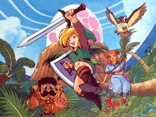 Link's Awakening Scene Art