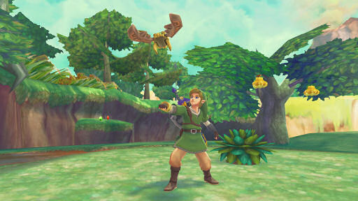 Skyward Sword Link Using Beedle